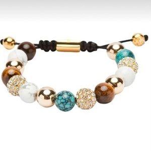 Niayala adjustable chakra yoga beaded bracelet .